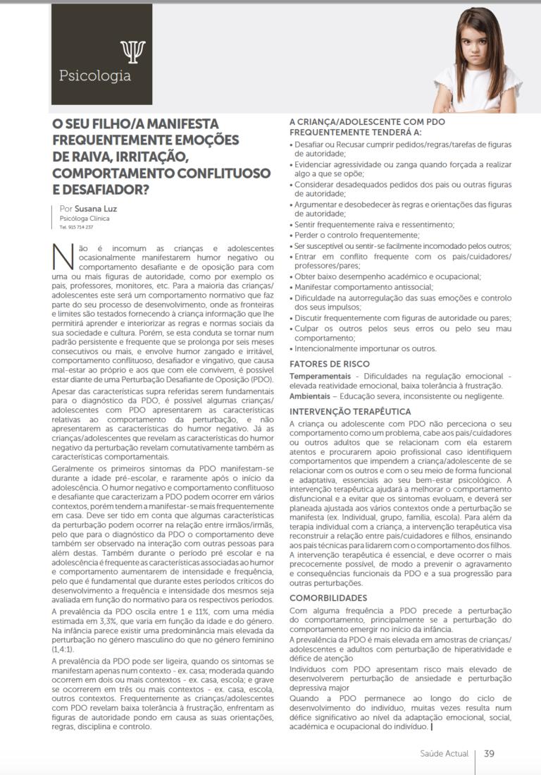 Artigo de Psicologia
